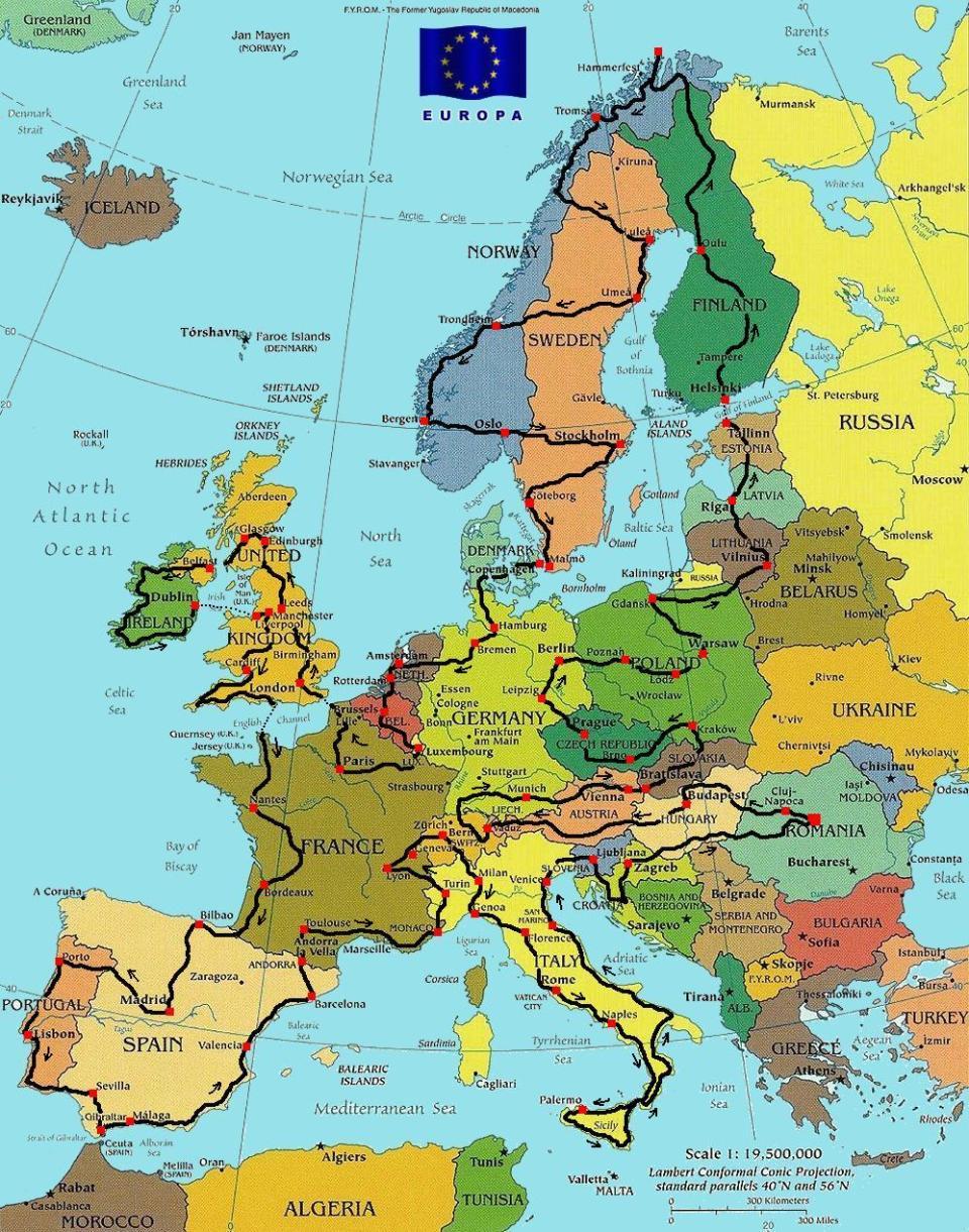 Harta călătoriei