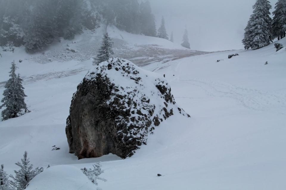 A doua zi, ceață, ninsoare, viscol...