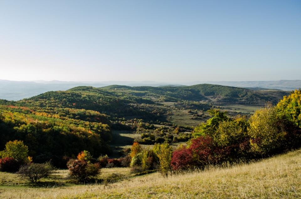 Deasupra satului Tăuți